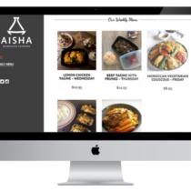 Aisha Catering Menu Page