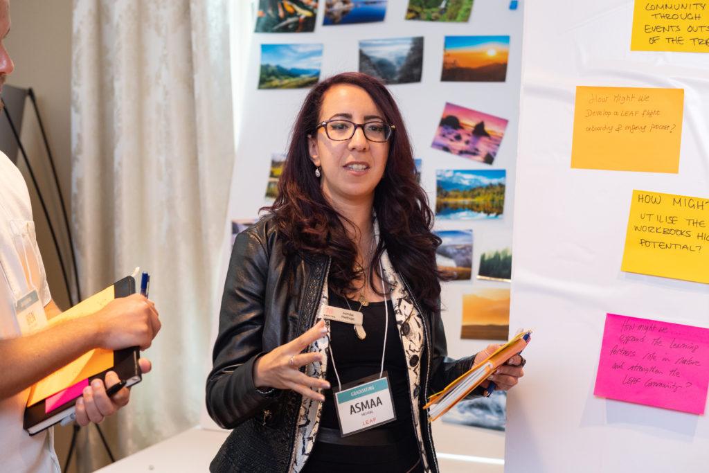 Asmaa Methqal presenting at LEAF Mastermind week in Cleveland, OH