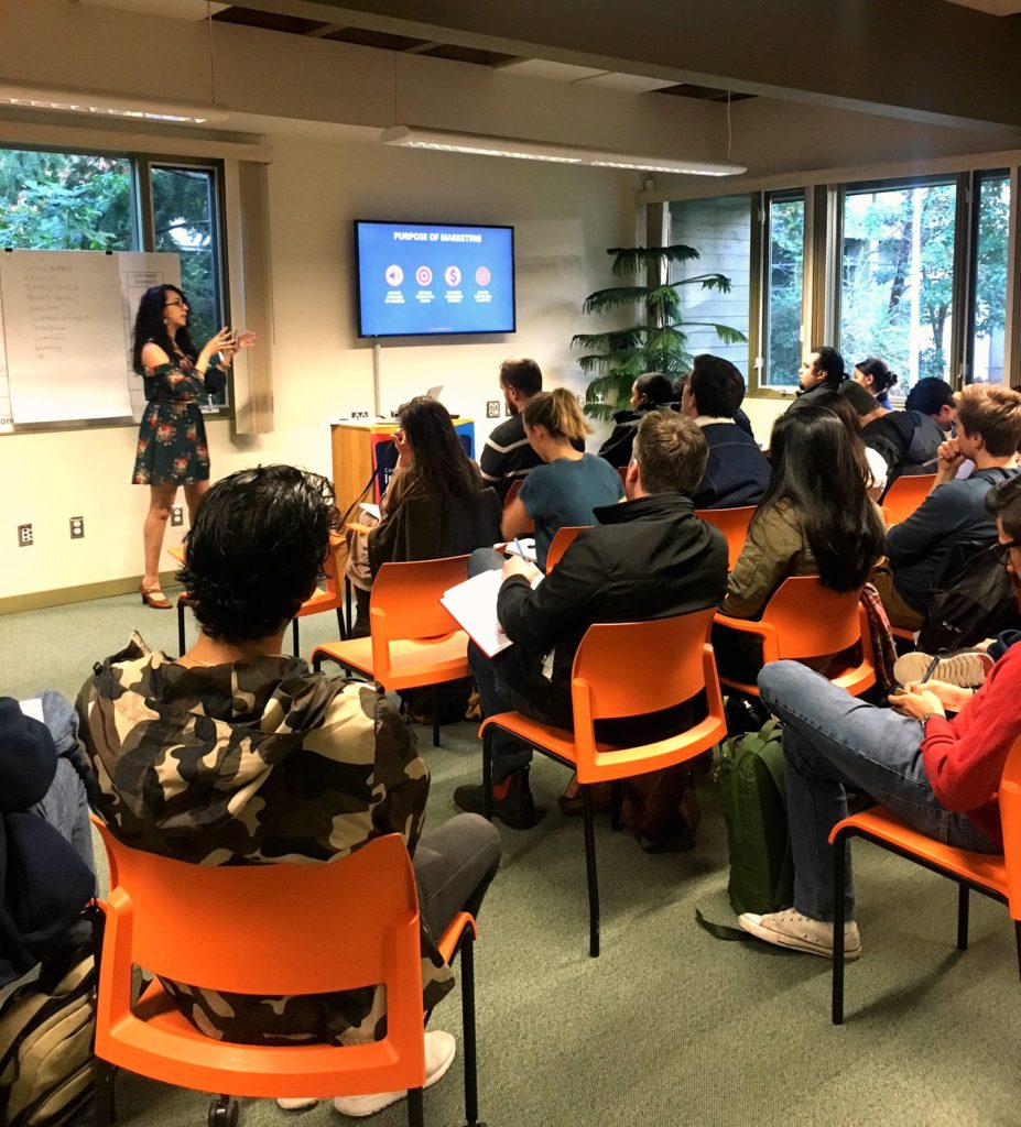 StartUp Marketing Fundamentals Workshop at UVIC Innovation Center